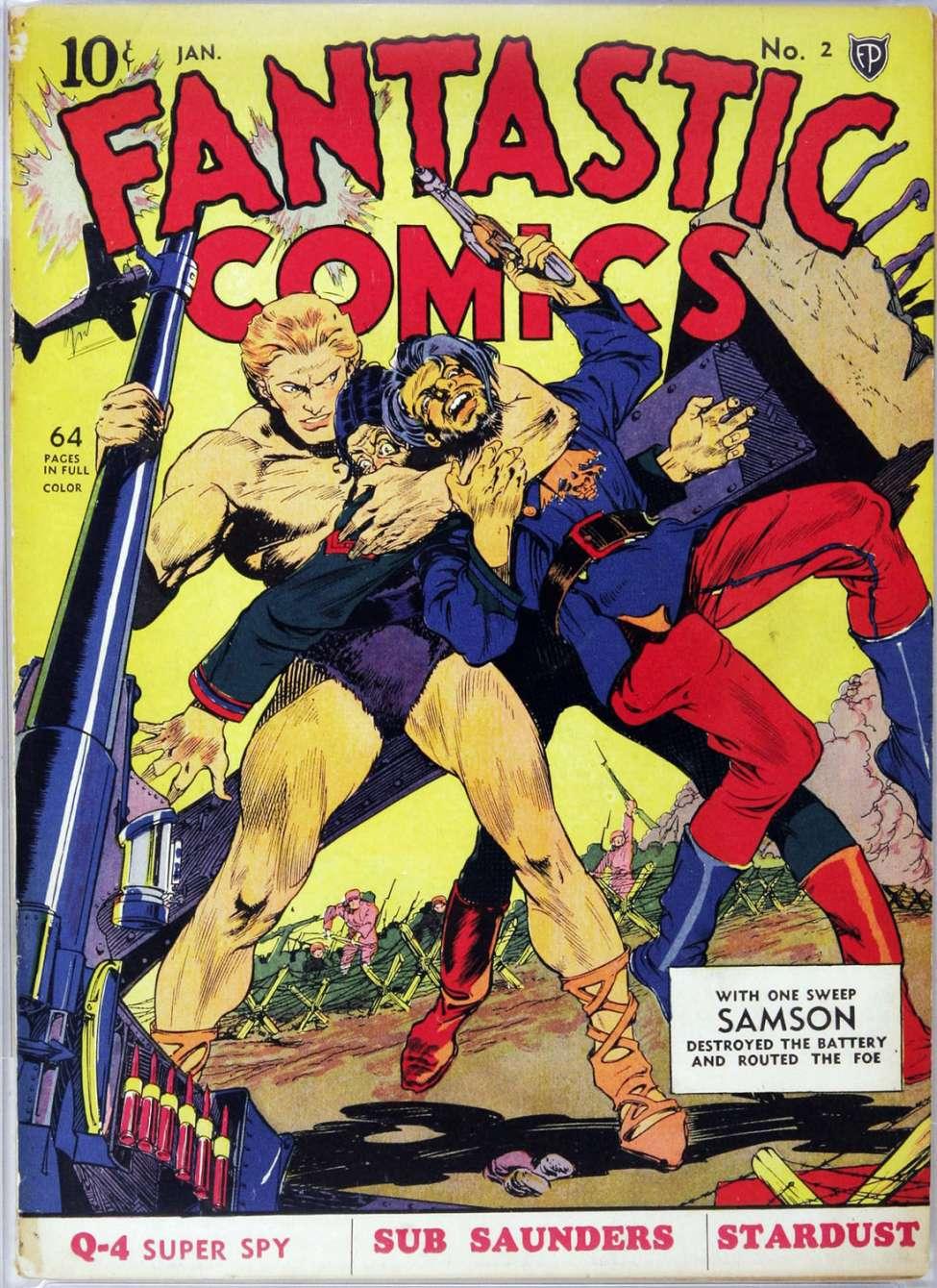 Comic Book Cover For Fantastic Comics #2