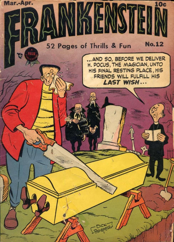 Comic Book Cover For Frankenstein #12 - Version 1