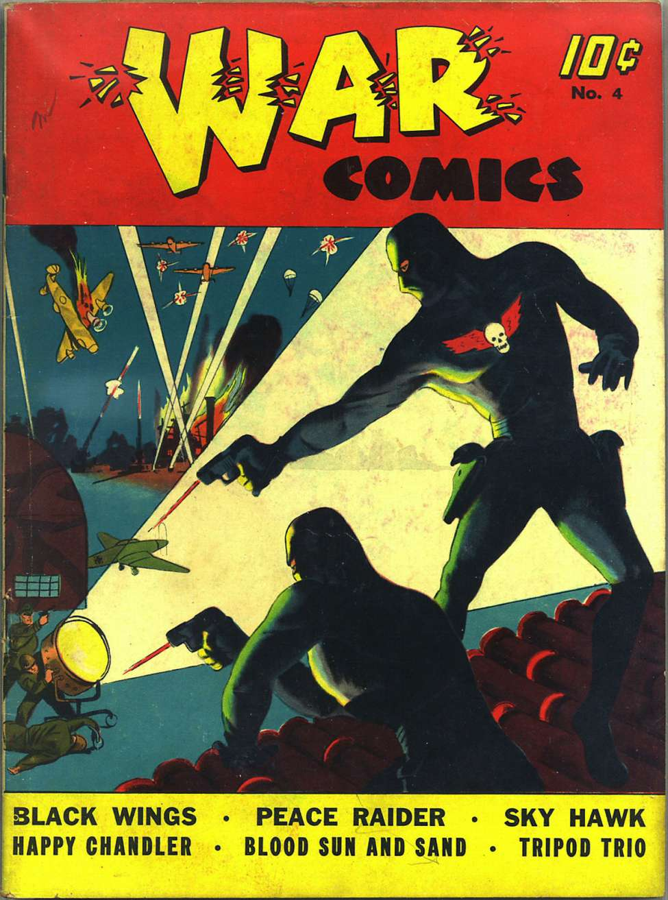 Comic Book Cover For War Comics #4 - Version 1