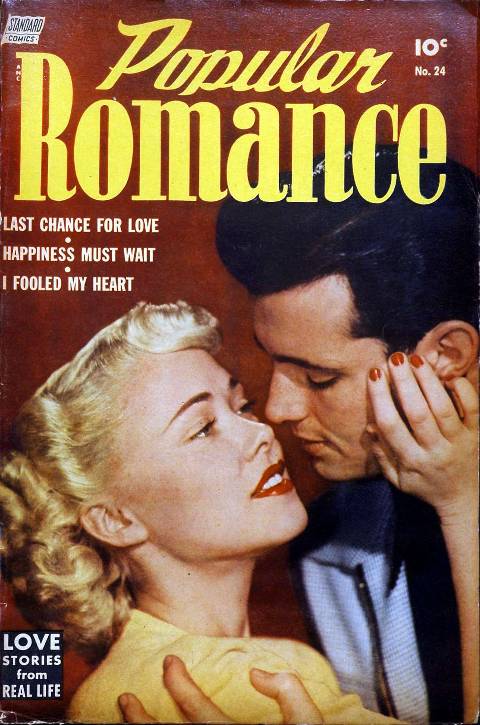 Comic Book Cover For Popular Romance #24