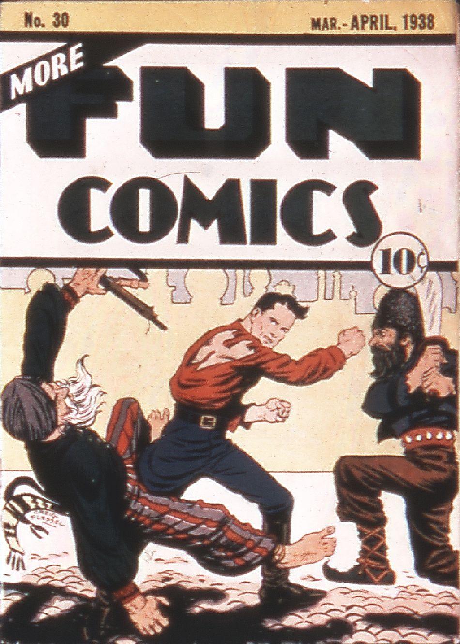 Comic Book Cover For More Fun Comics #30