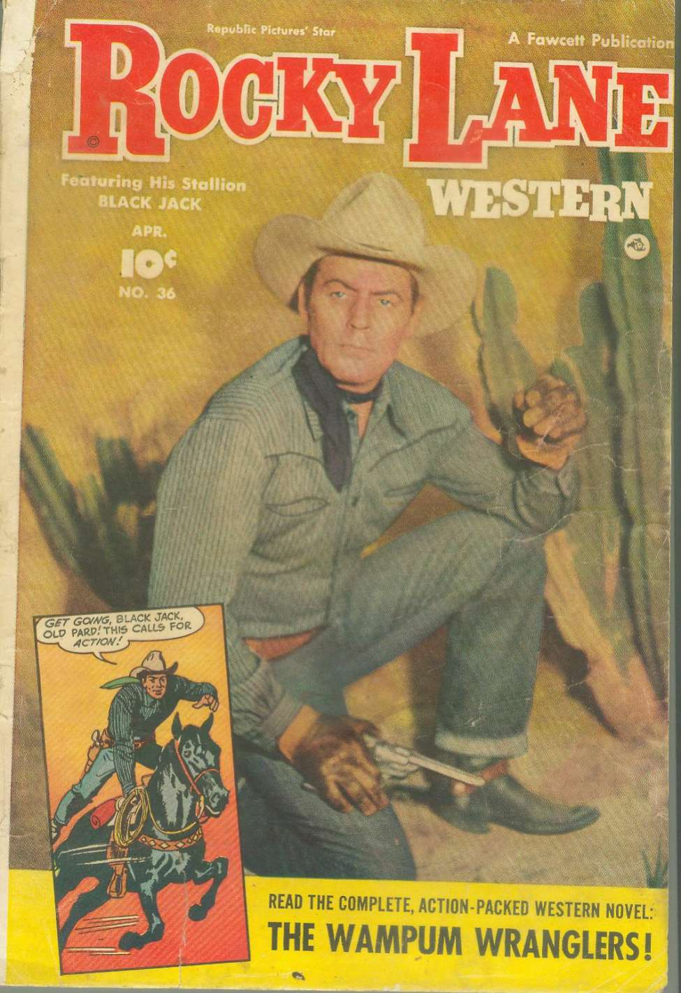 Comic Book Cover For Rocky Lane Western #36