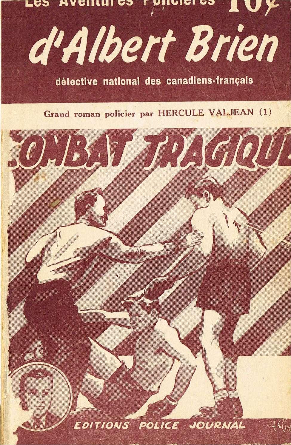 Comic Book Cover For Albert Brien v2 01 - Combat Tragique