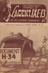 Cover For L'Agent IXE 13 v2 121 Document H 34
