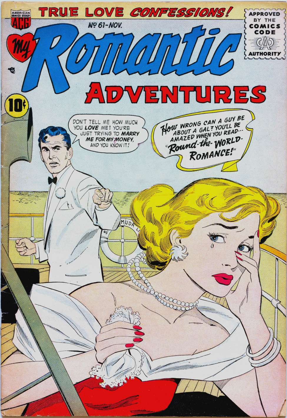 Comic Book Cover For Romantic Adventures #61