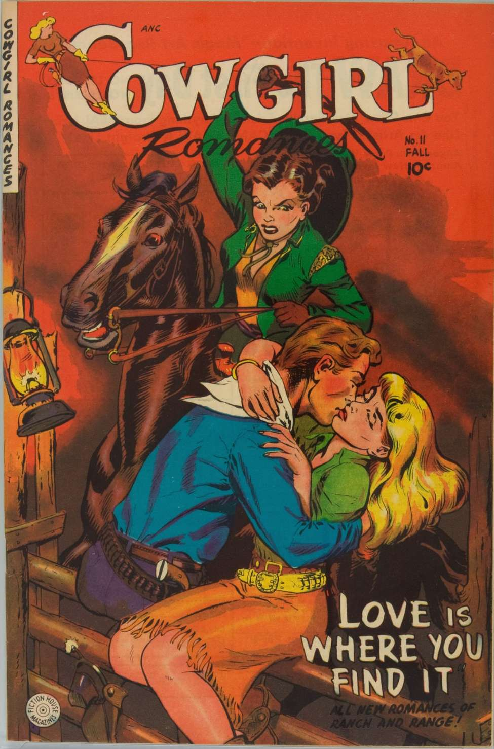 Comic Book Cover For Cowgirl Romances #11