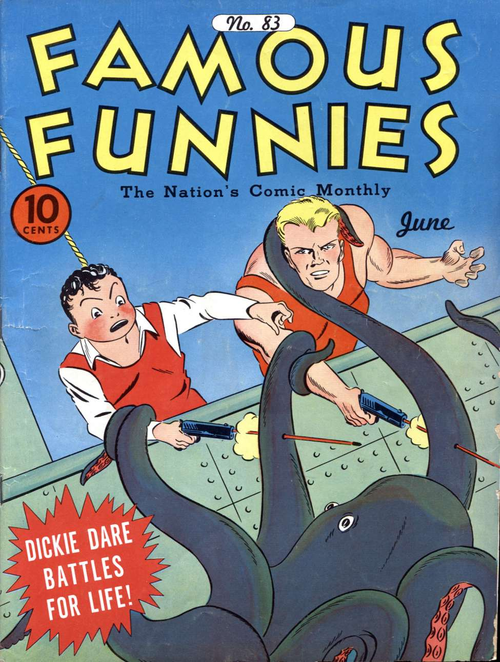 Comic Book Cover For Famous Funnies #83