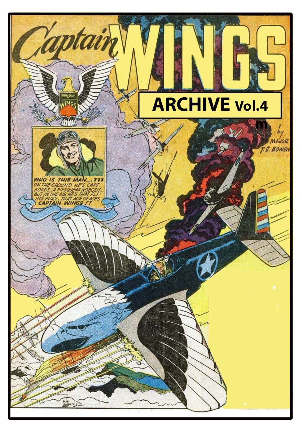 Comic Book Cover For Captain Wings Archive Vol.4 (Fiction House)
