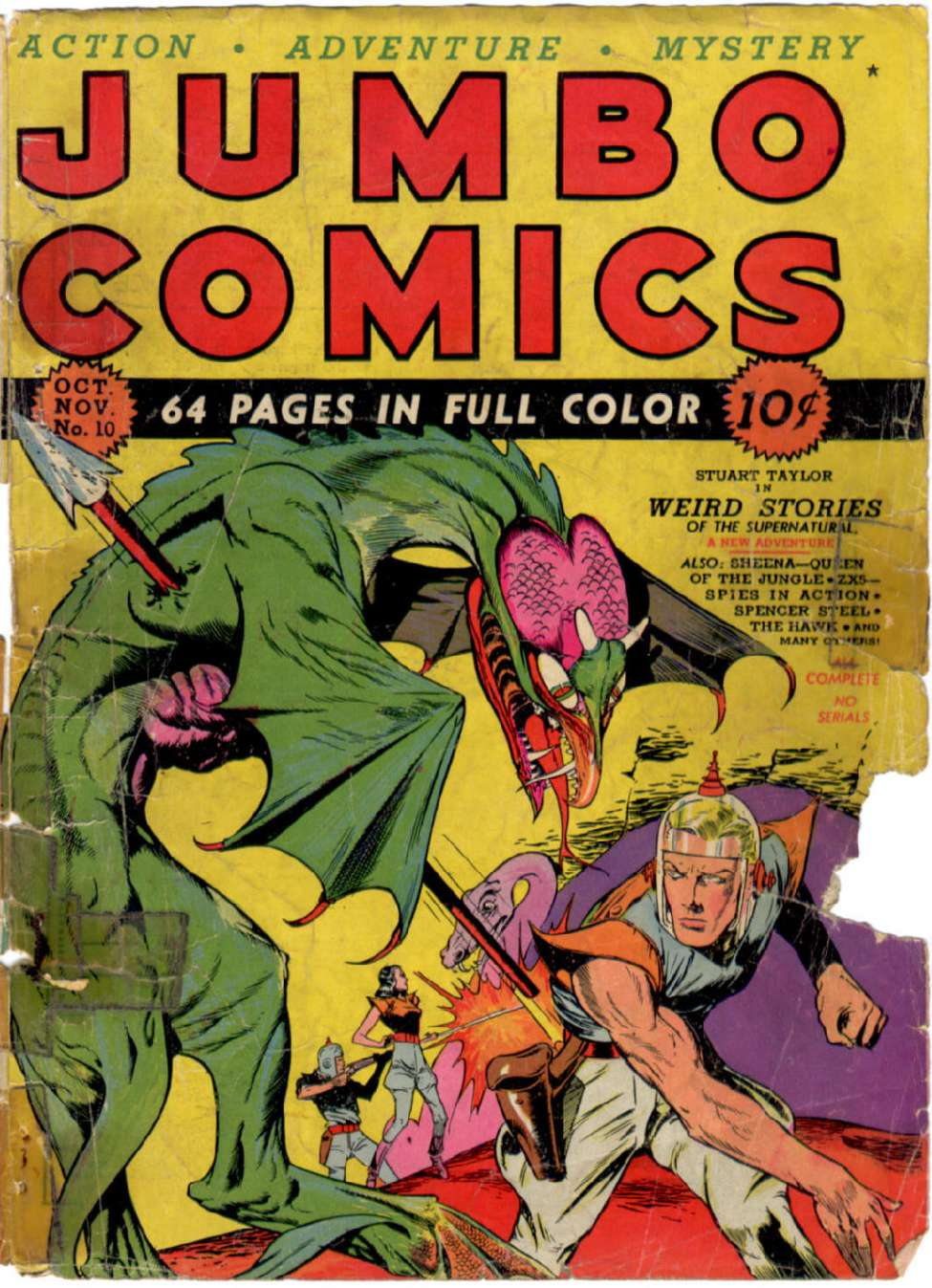 Comic Book Cover For Jumbo Comics #10