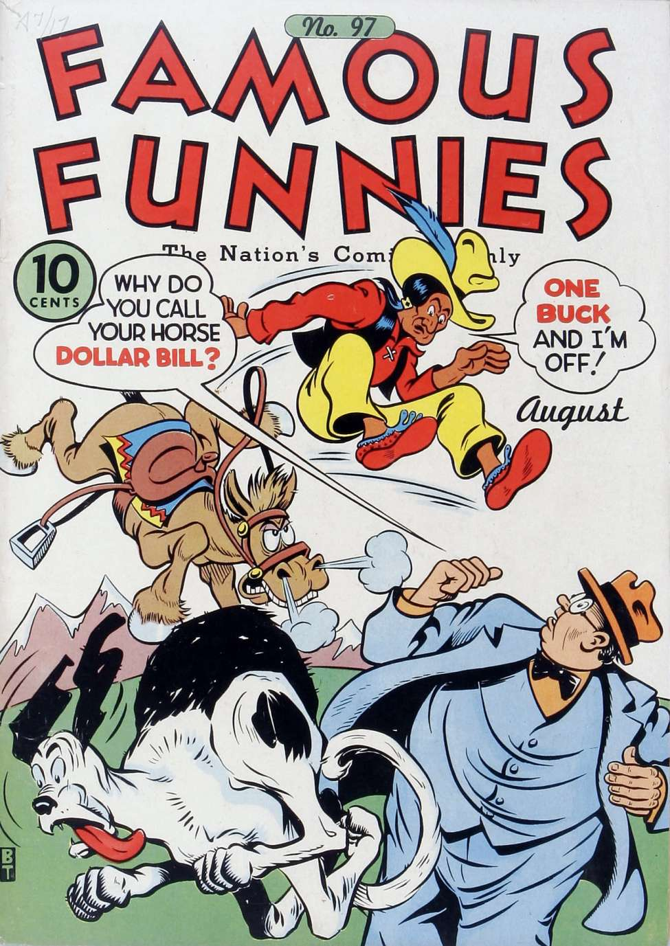 Comic Book Cover For Famous Funnies #97