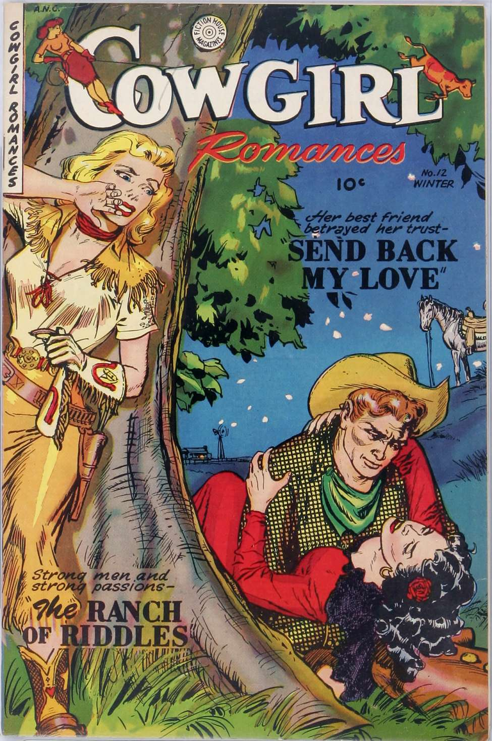 Comic Book Cover For Cowgirl Romances #12