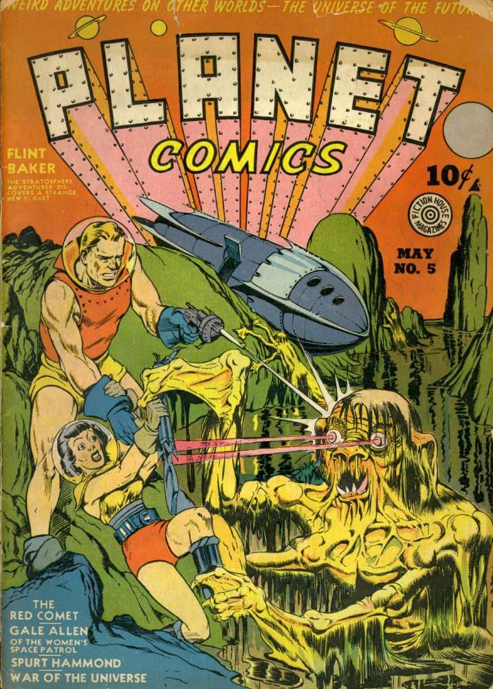 Comic Book Cover For Planet Comics #5