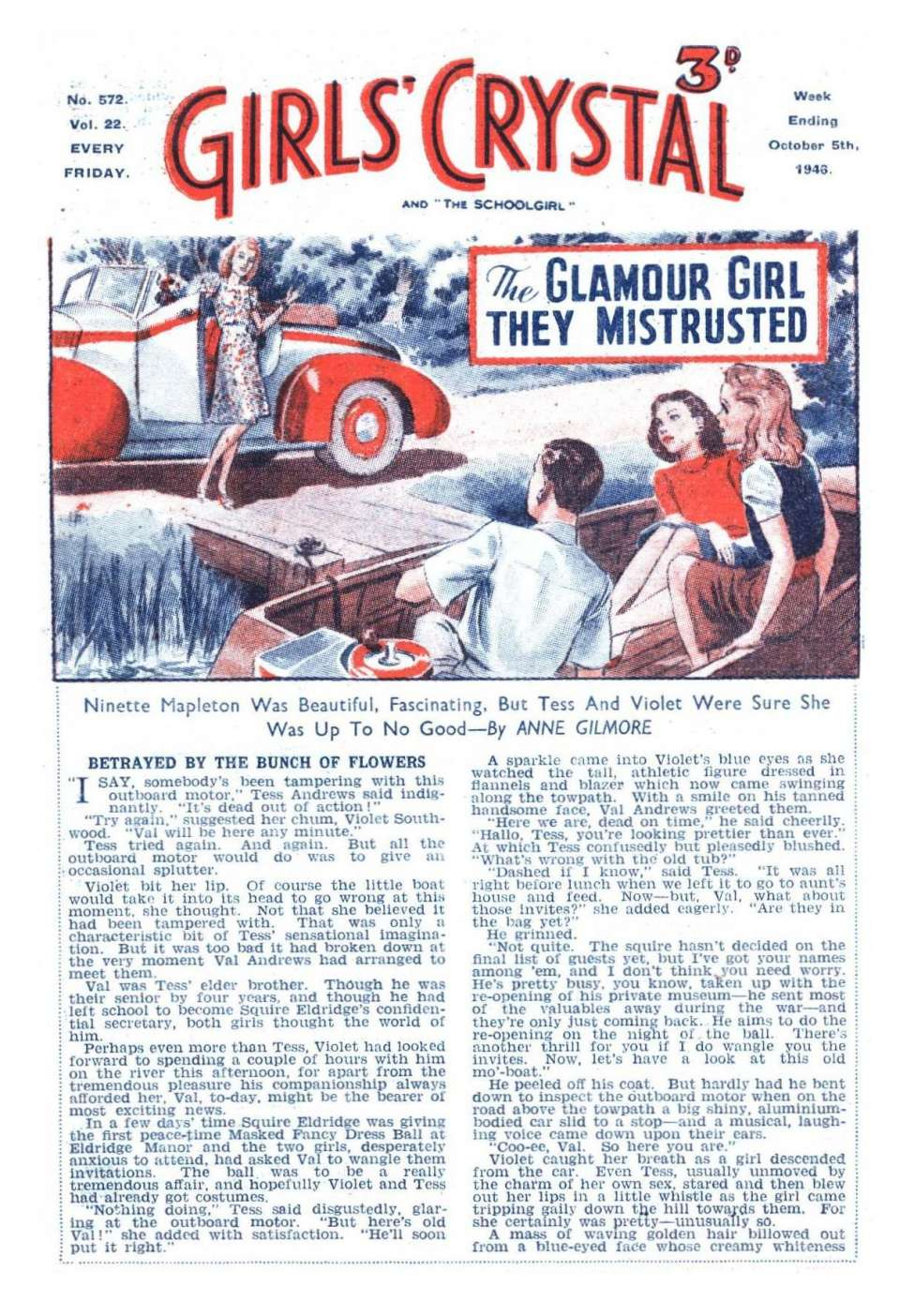Comic Book Cover For Girls' Crystal 0572 - The Glamour Girl They Mistrusted