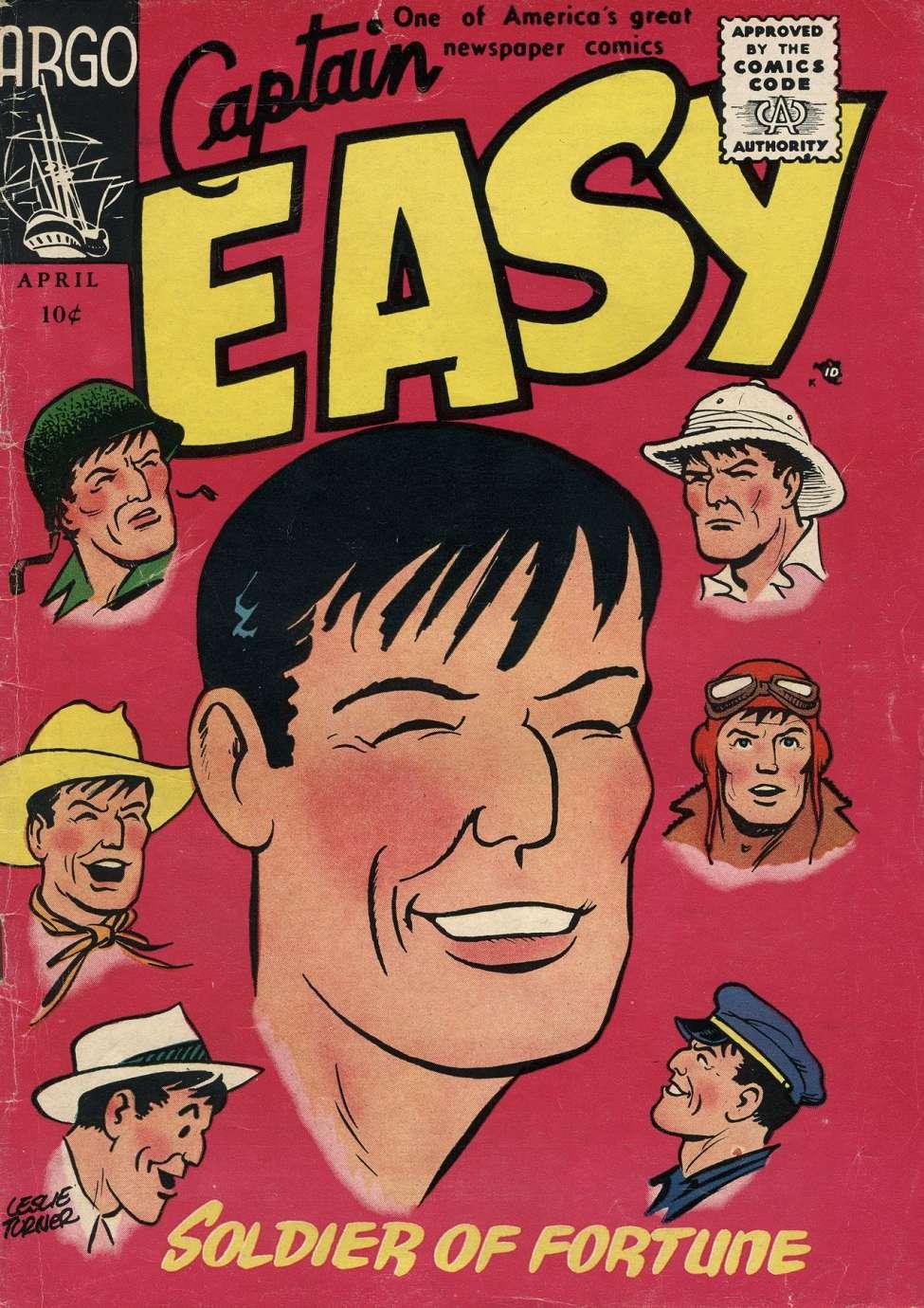 Simple Comic Book Covers ~ Captain easy argo publications comic book plus