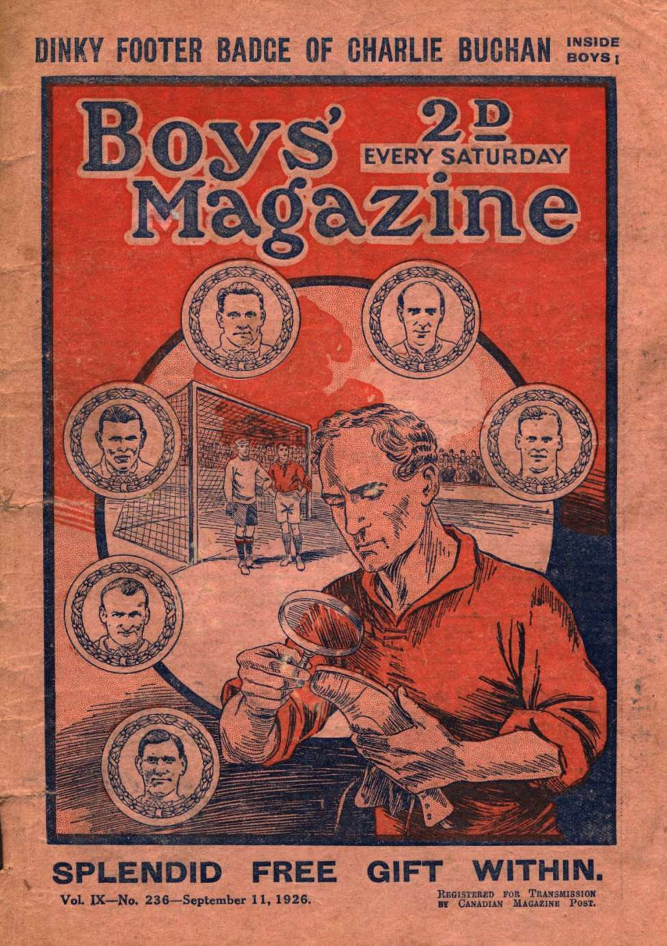 Comic Book Cover For Boys' Magazine 236