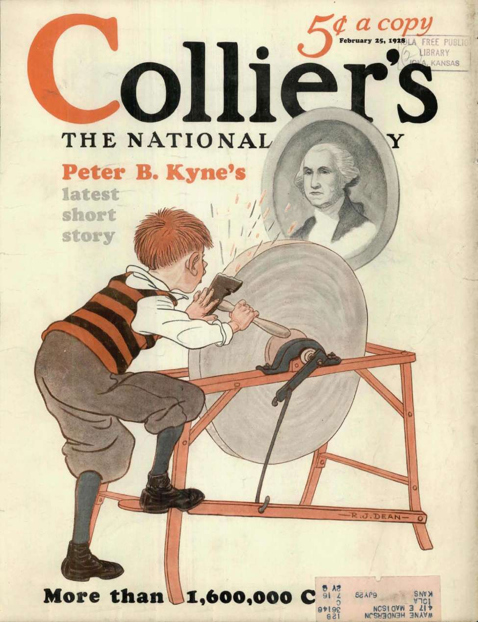 Comic Book Cover For Collier's Weekly v081 08