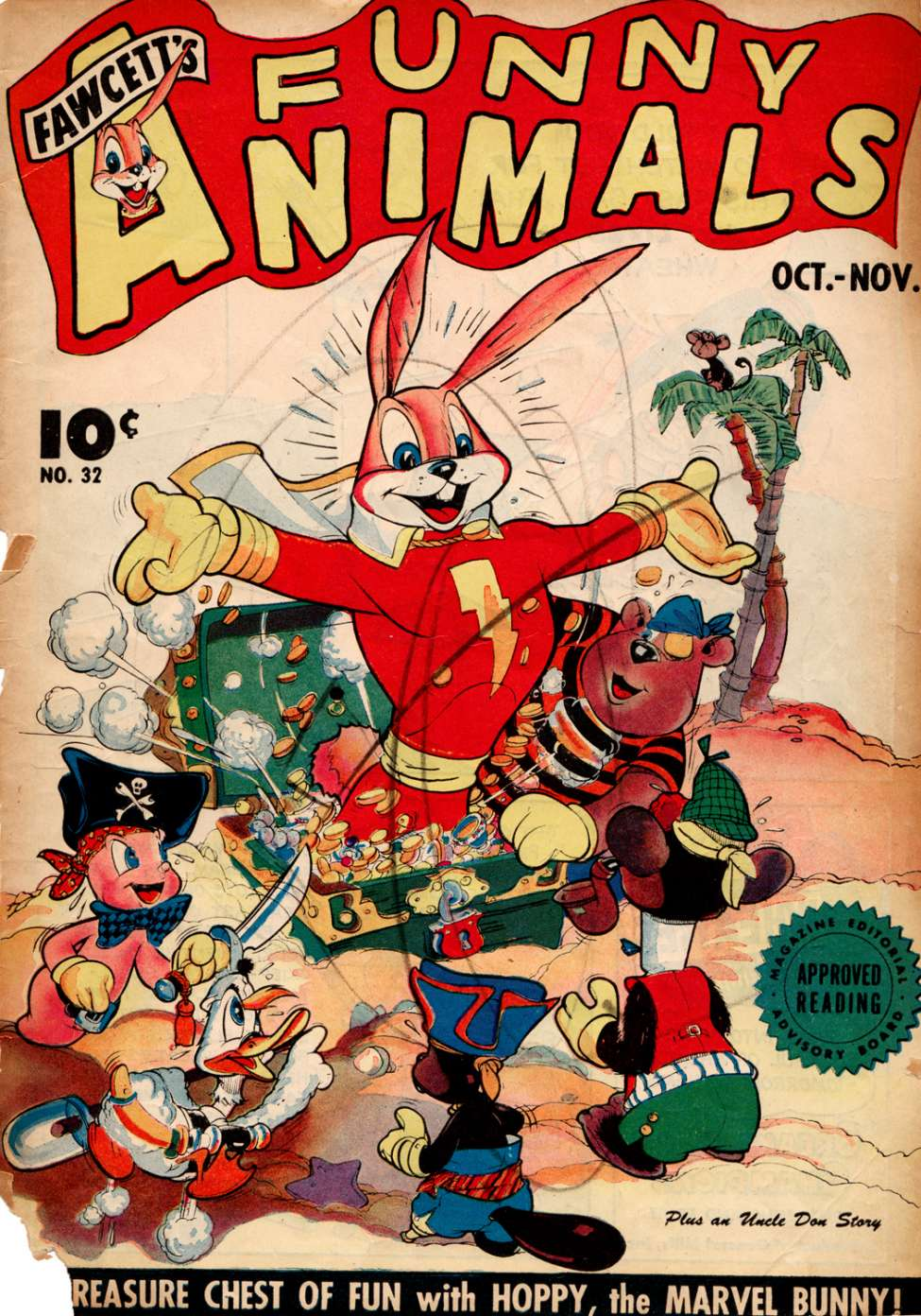Comic Book Cover For Fawcett's Funny Animals #32