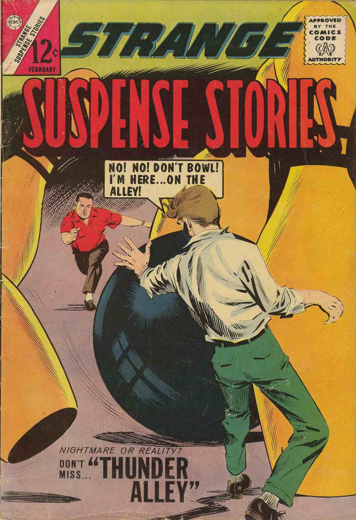 Comic Book Cover For Strange Suspense Stories #69