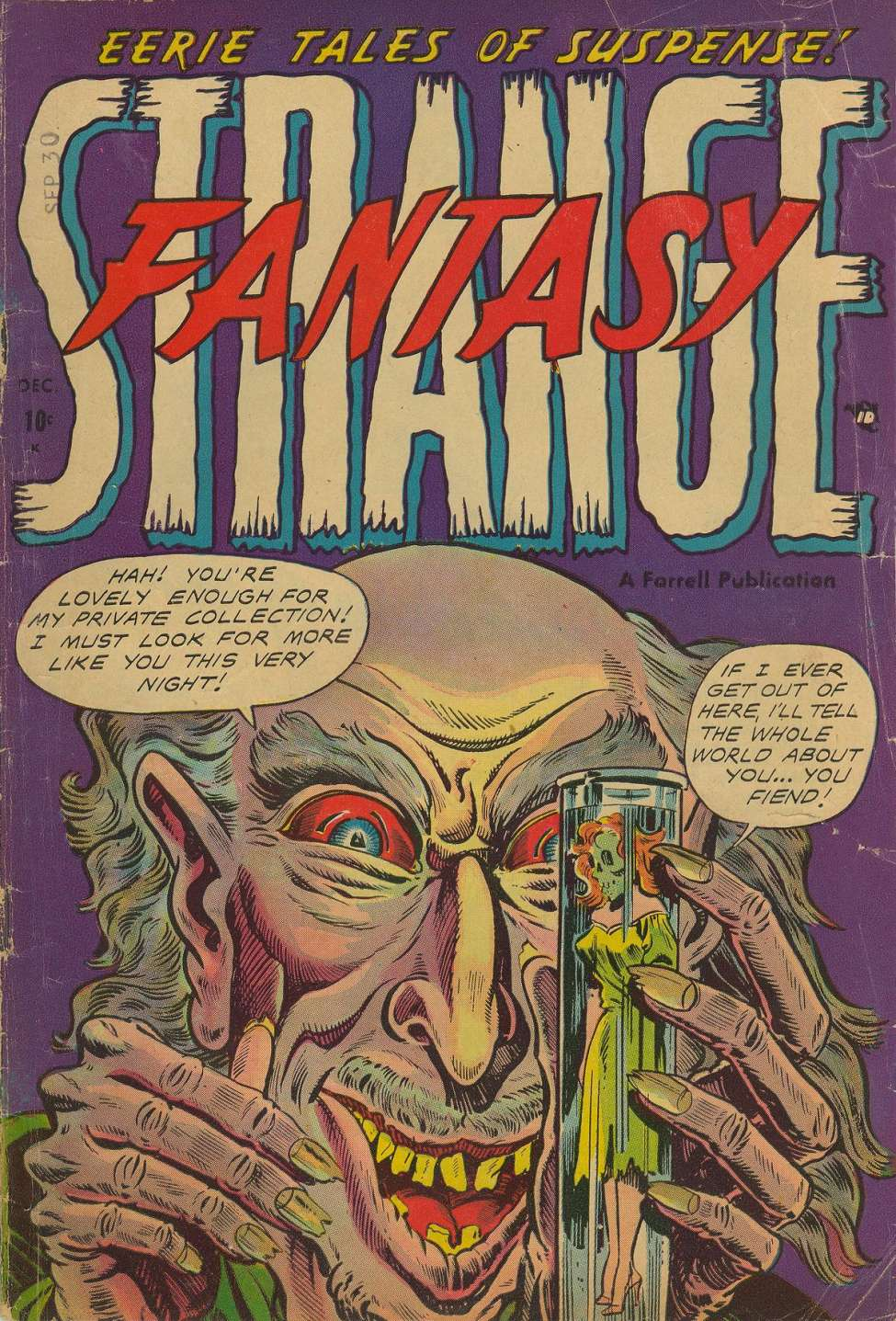 Comic Book Cover For Strange Fantasy #9