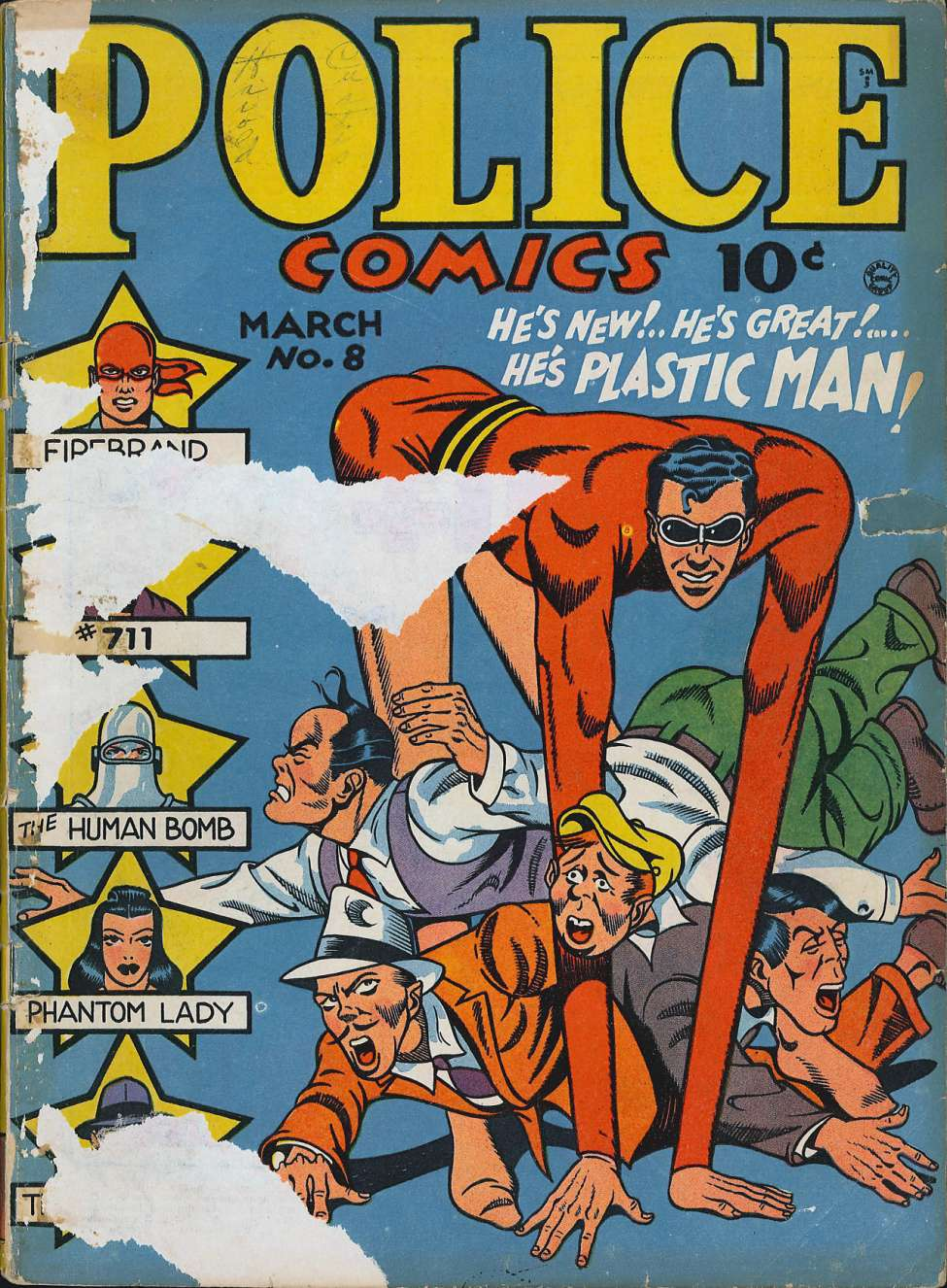 Comic Book Cover For Police Comics #8