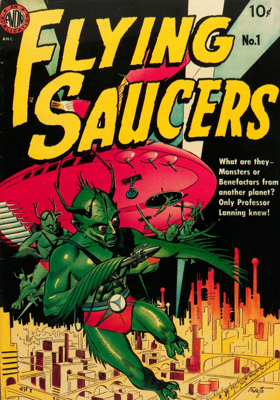 Comic Book Cover For Flying Saucers nn (alt) - Version 2
