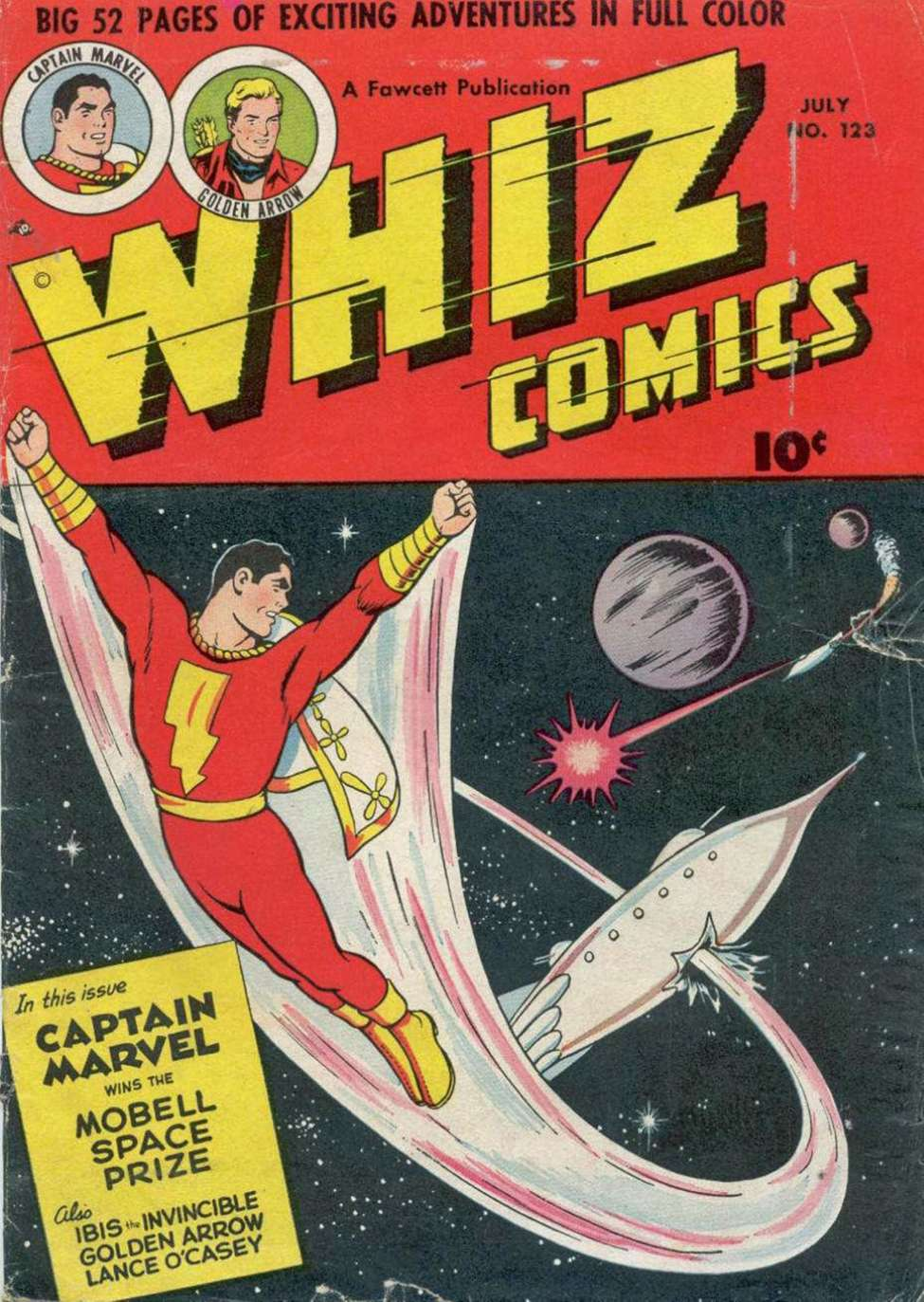 Comic Book Cover For Capt. Marvel Whiz Archives Vol 25