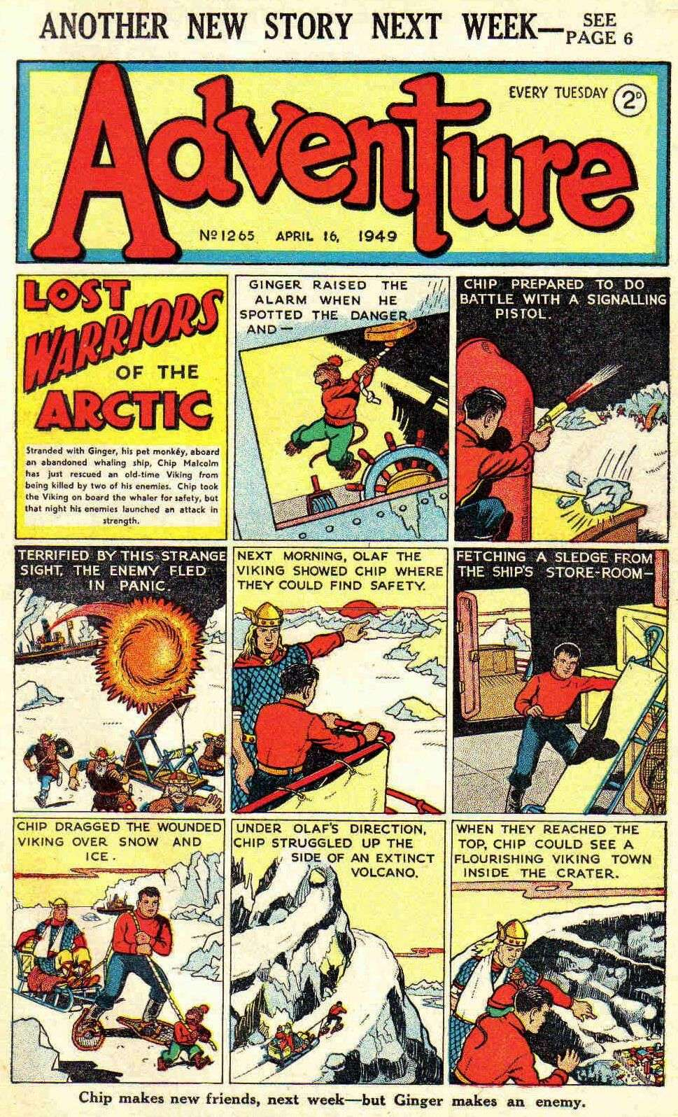 Comic Book Cover For Adventure #1265