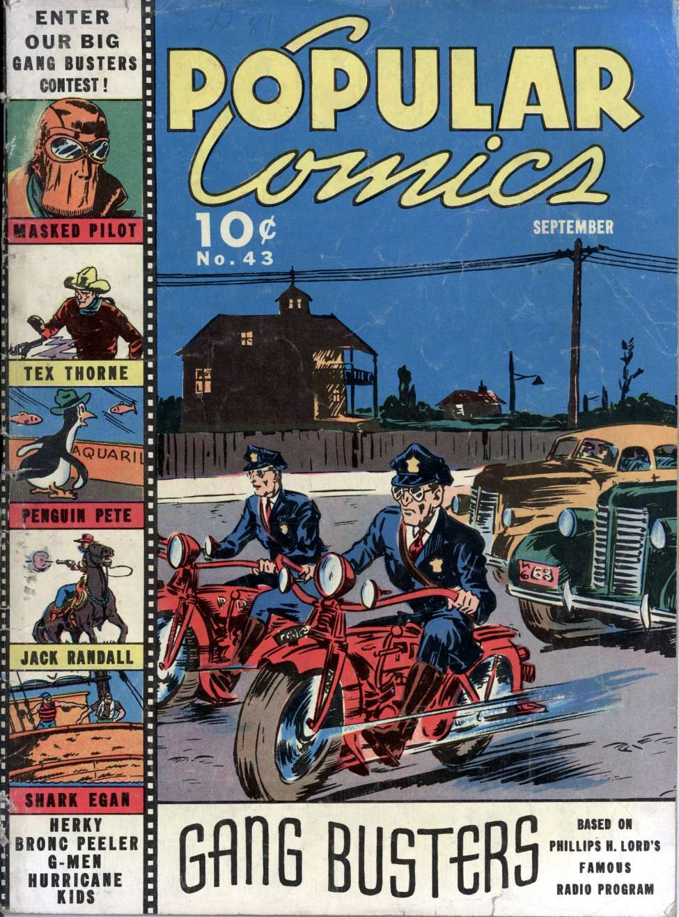 Comic Book Cover For Popular Comics #43