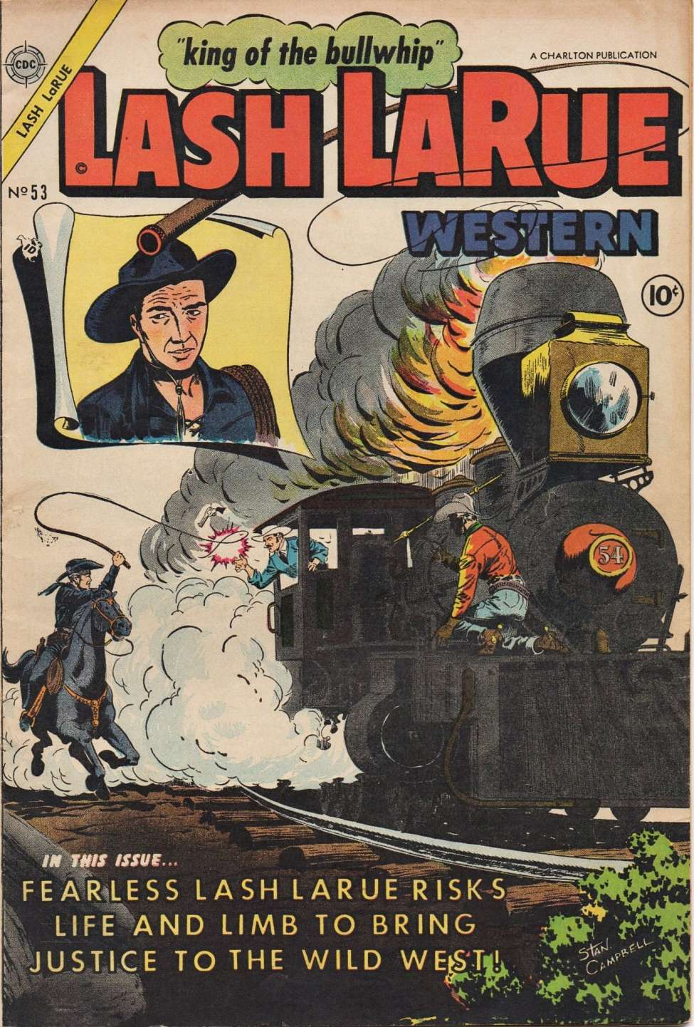 Comic Book Cover For Lash Larue Western #53