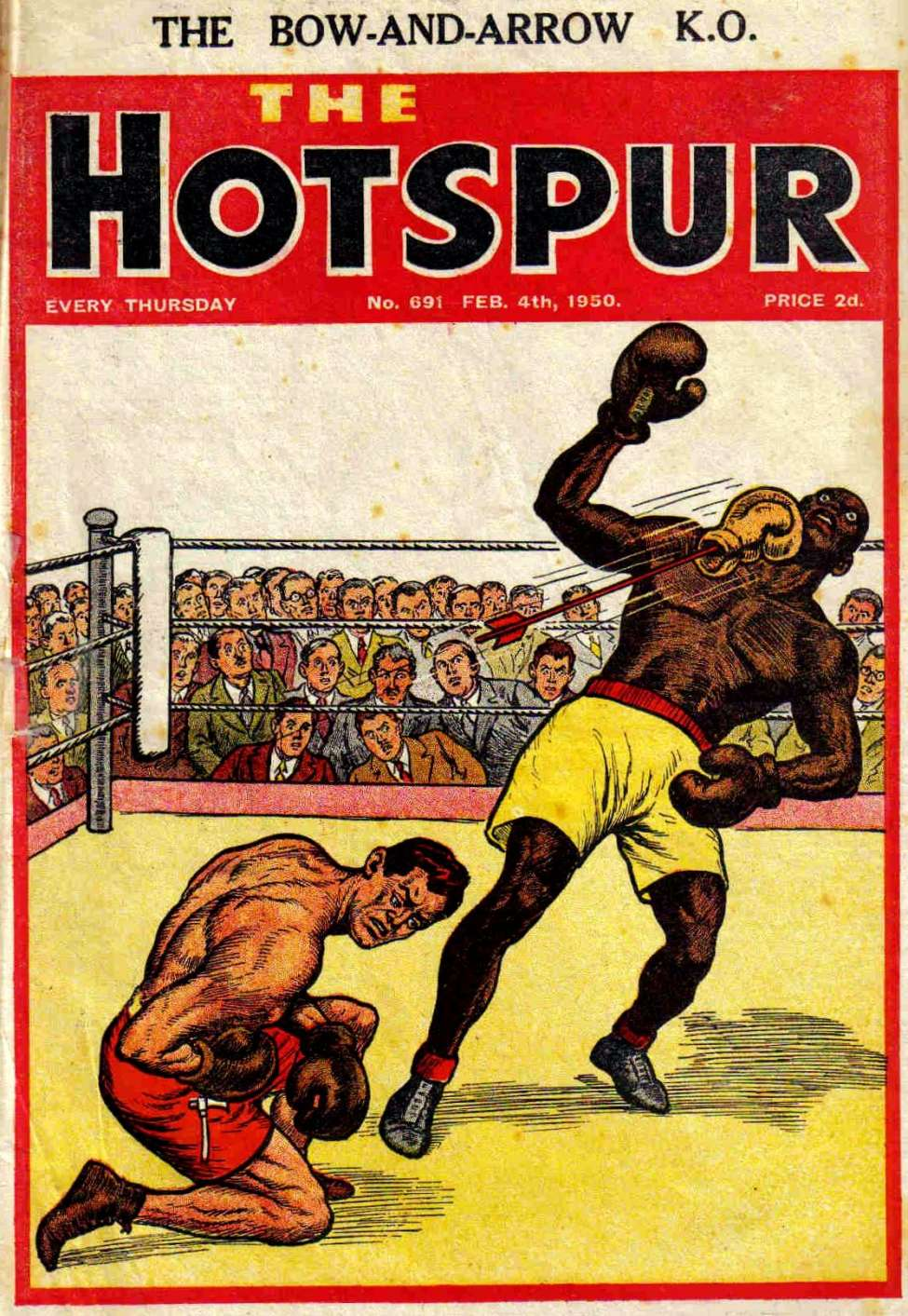 Comic Book Cover For The Hotspur 0691