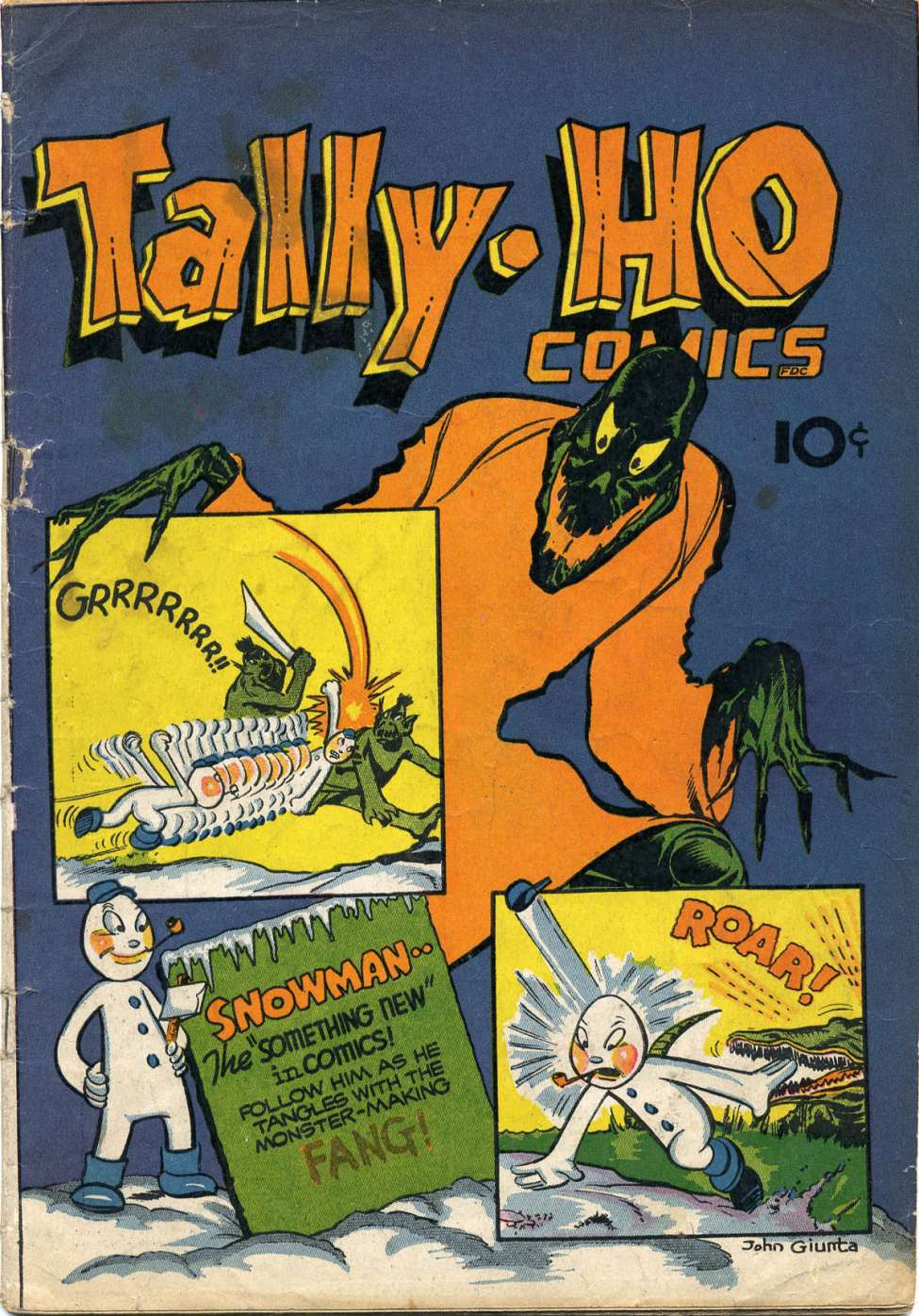 Comic Book Cover For Tally-Ho Comics
