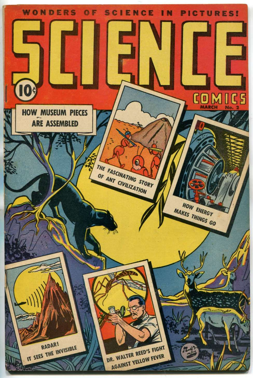 Comic Book Cover For Science Comics #2