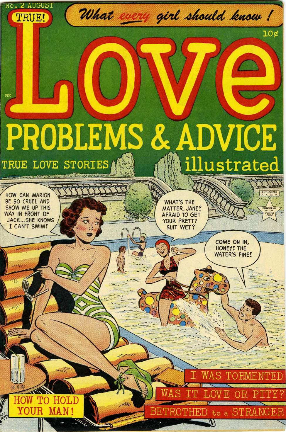 Comic Book Cover For Love Problems and Advice, Illustrated #2