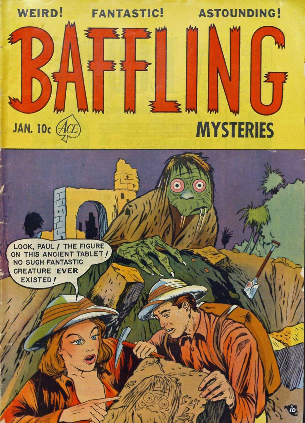 Comic Book Cover For Baffling Mysteries #6 - Version 2