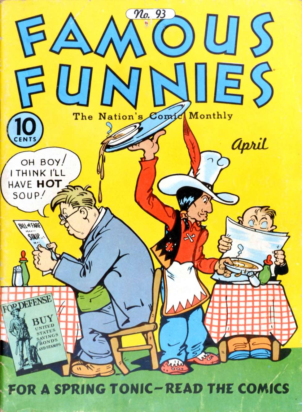 Comic Book Cover For Famous Funnies #93