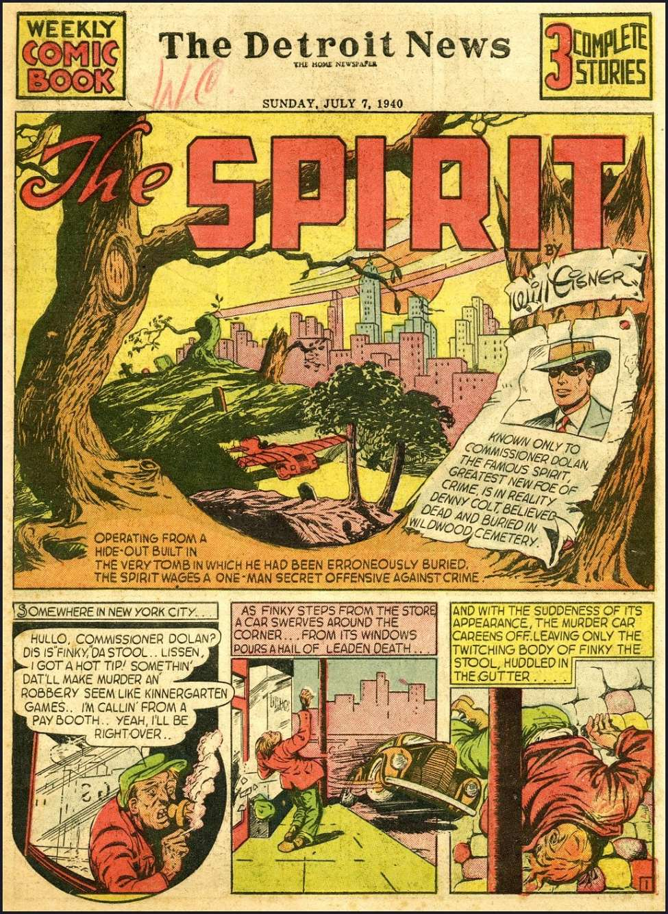Comic Book Cover For The Spirit 7/7/1940