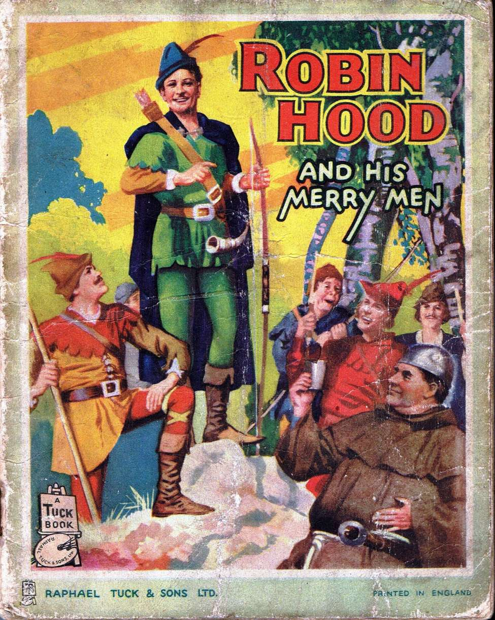 Comic Book Cover For Robin Hood and his Merry Men.