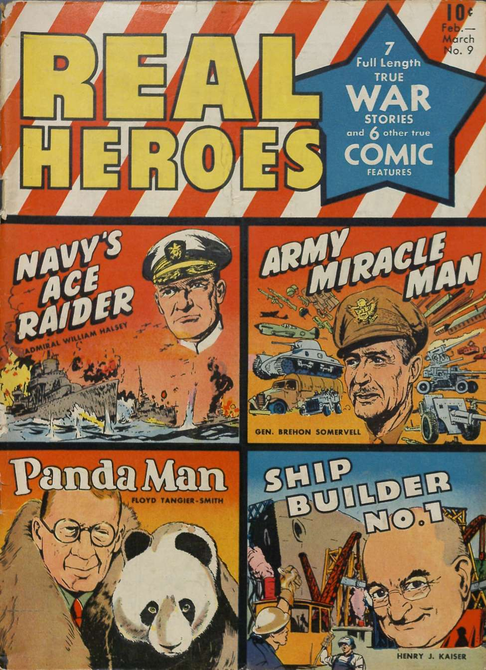 Comic Book Cover For Real Heroes #9