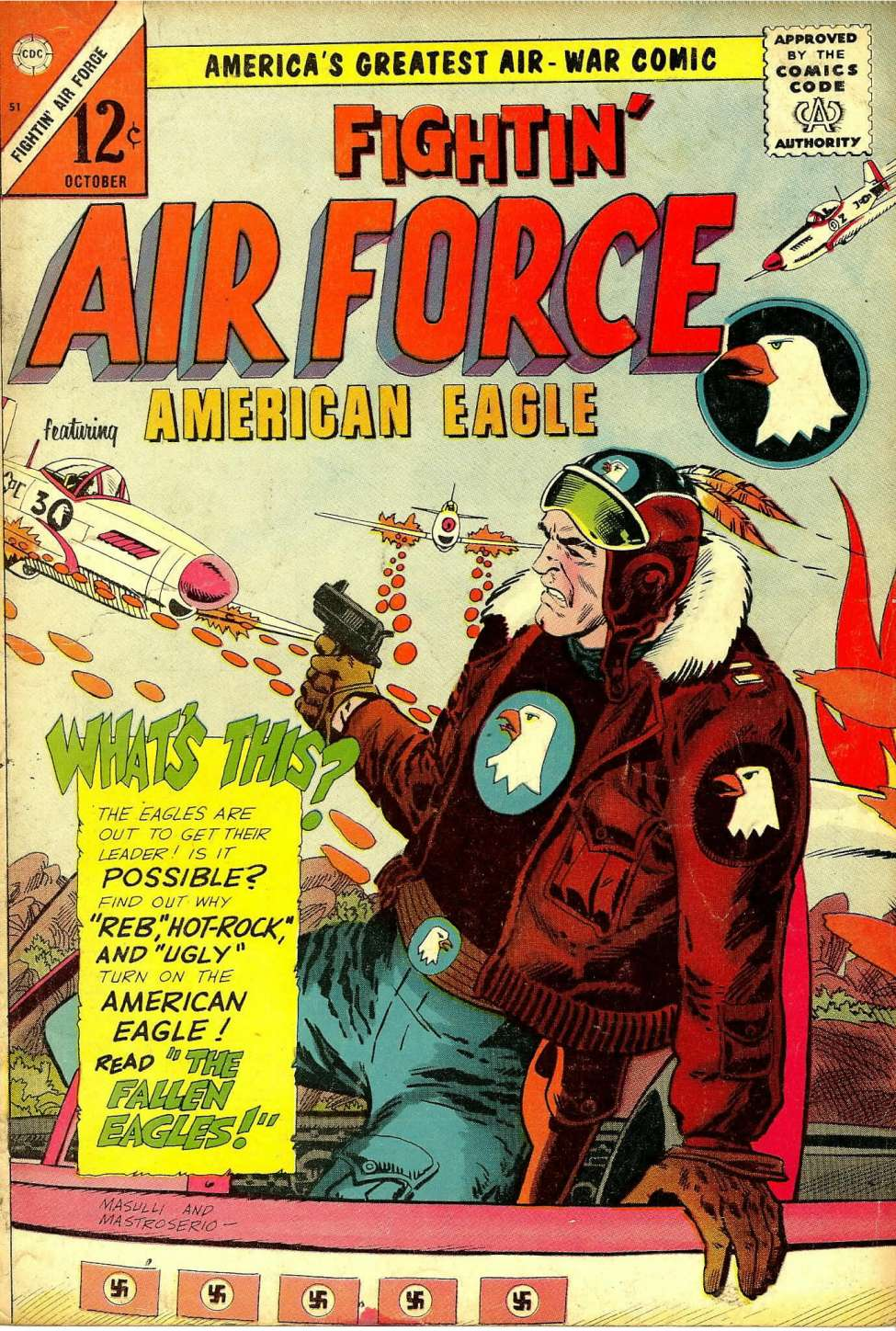 Comic Book Cover For Fightin' Air Force #51