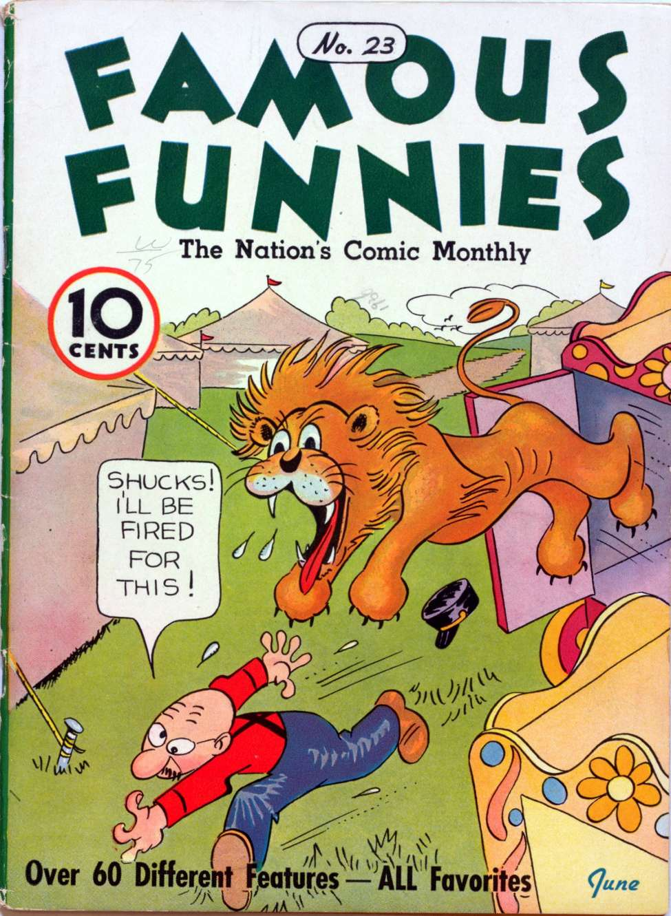 Comic Book Cover For Famous Funnies #23