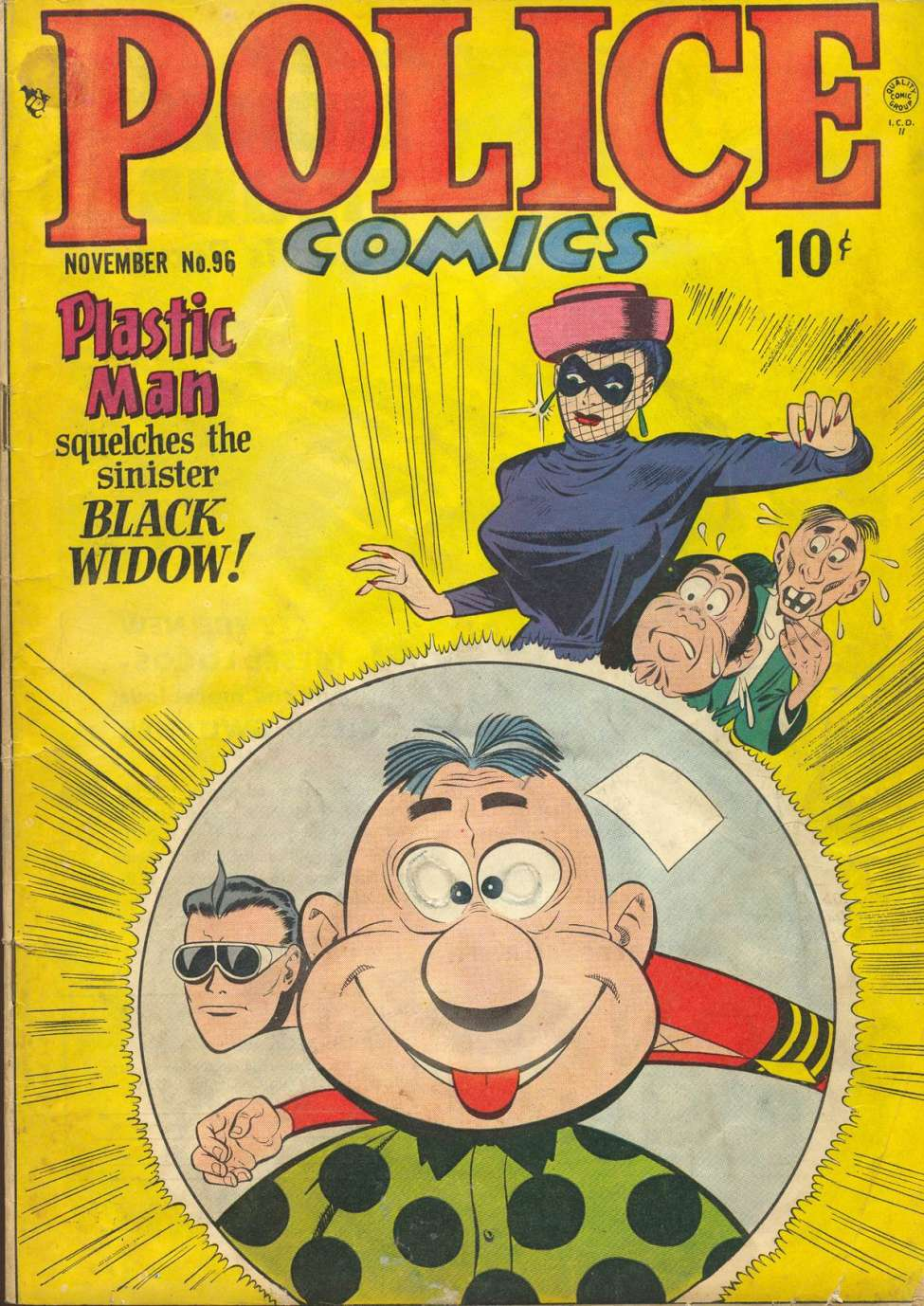 Comic Book Cover For Police Comics #96