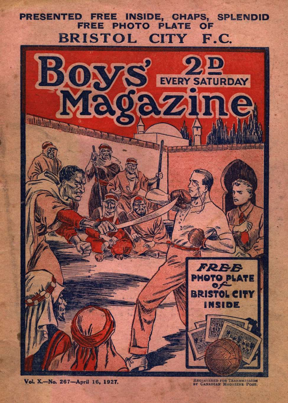 Comic Book Cover For Boys' Magazine 267