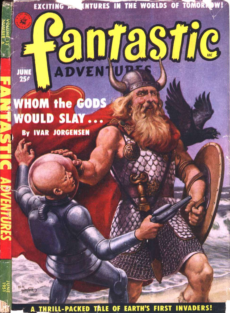 Comic Book Cover For Fantastic Adventures v13 06 - Whom the Gods Would Slay - Ivar Jorgensen