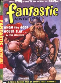 Large Thumbnail For Fantastic Adventures v13 06 - Whom the Gods Would Slay - Ivar Jorgensen