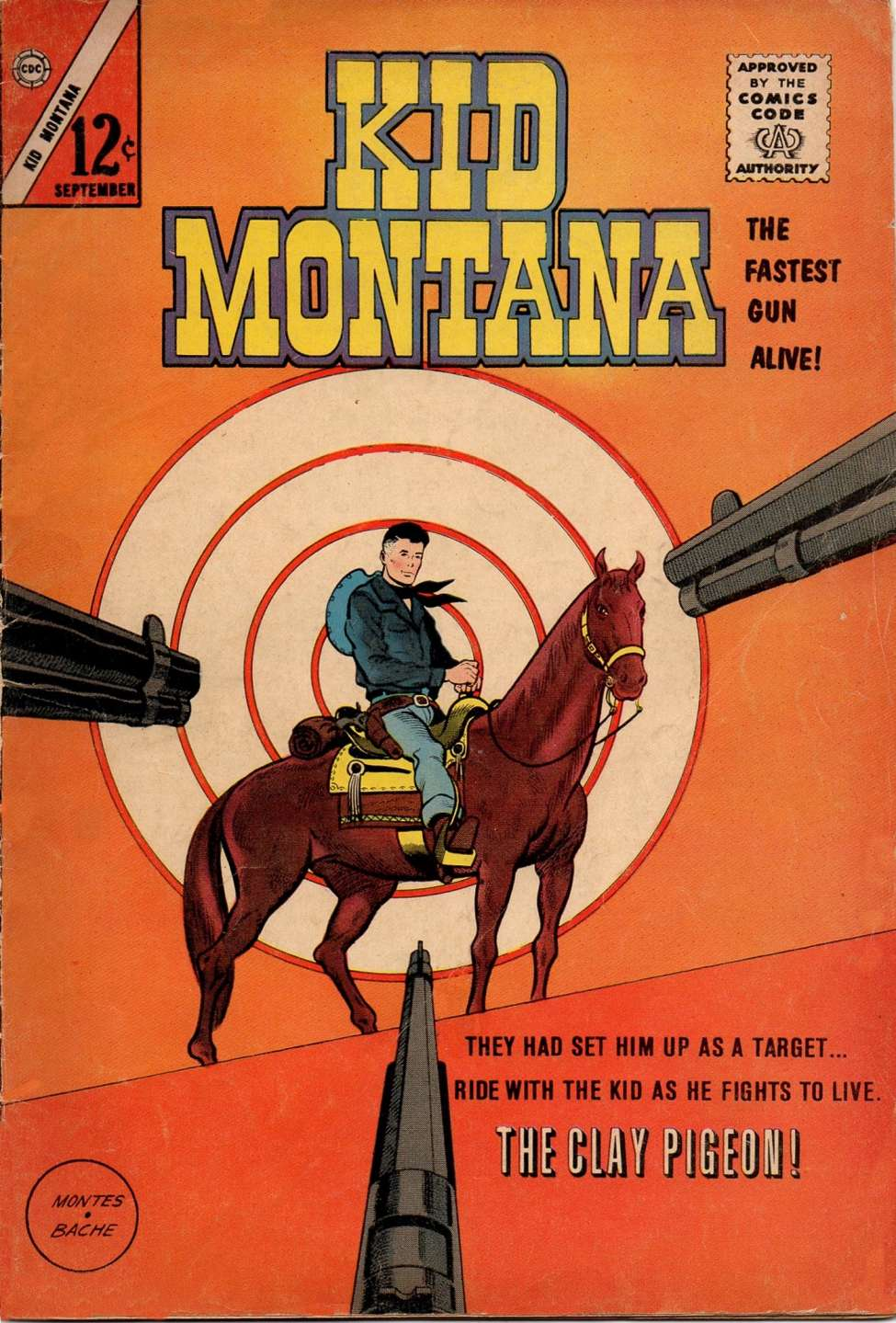 Comic Book Cover For Kid Montana #42