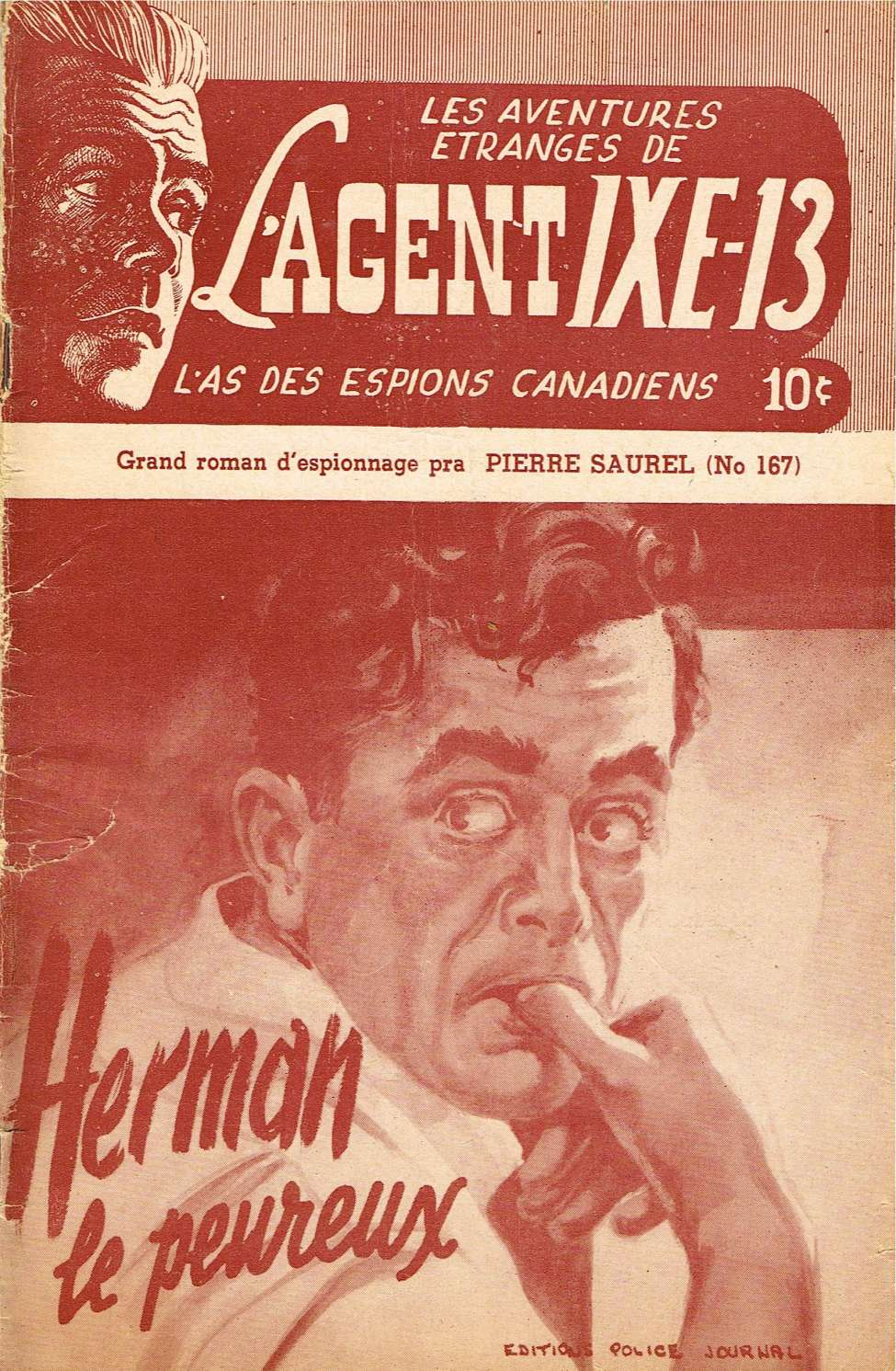 Comic Book Cover For L'Agent IXE-13 v2 167 - Herman le peureux