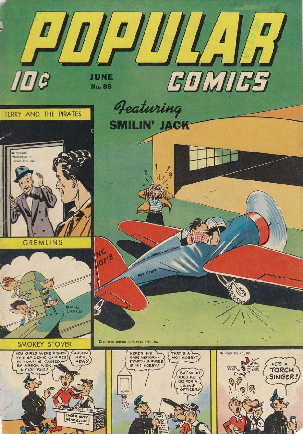 Comic Book Cover For Popular Comics #88