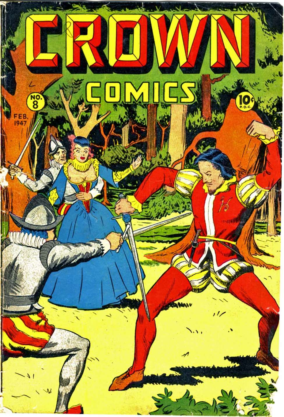 Comic Book Cover For Crown Comics #8
