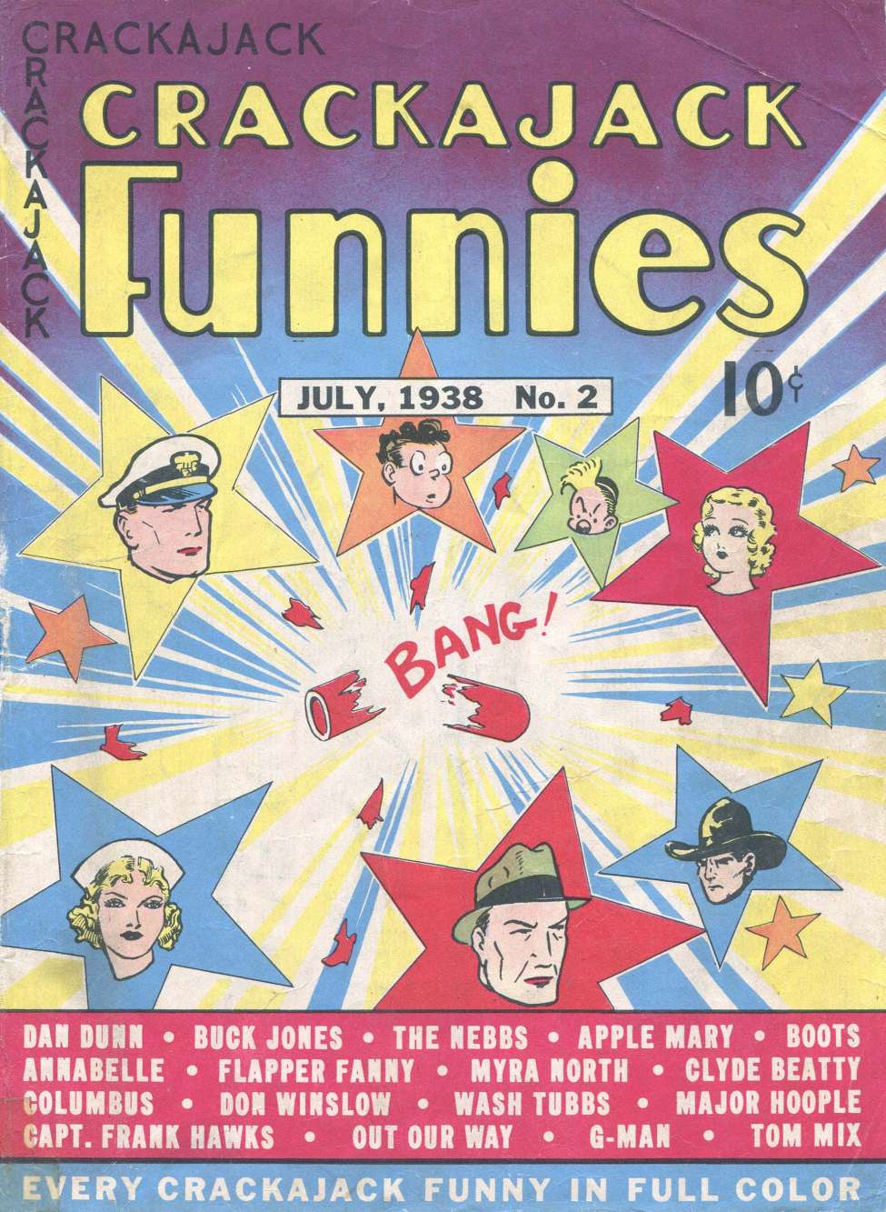 Comic Book Cover For Crackajack Funnies #2