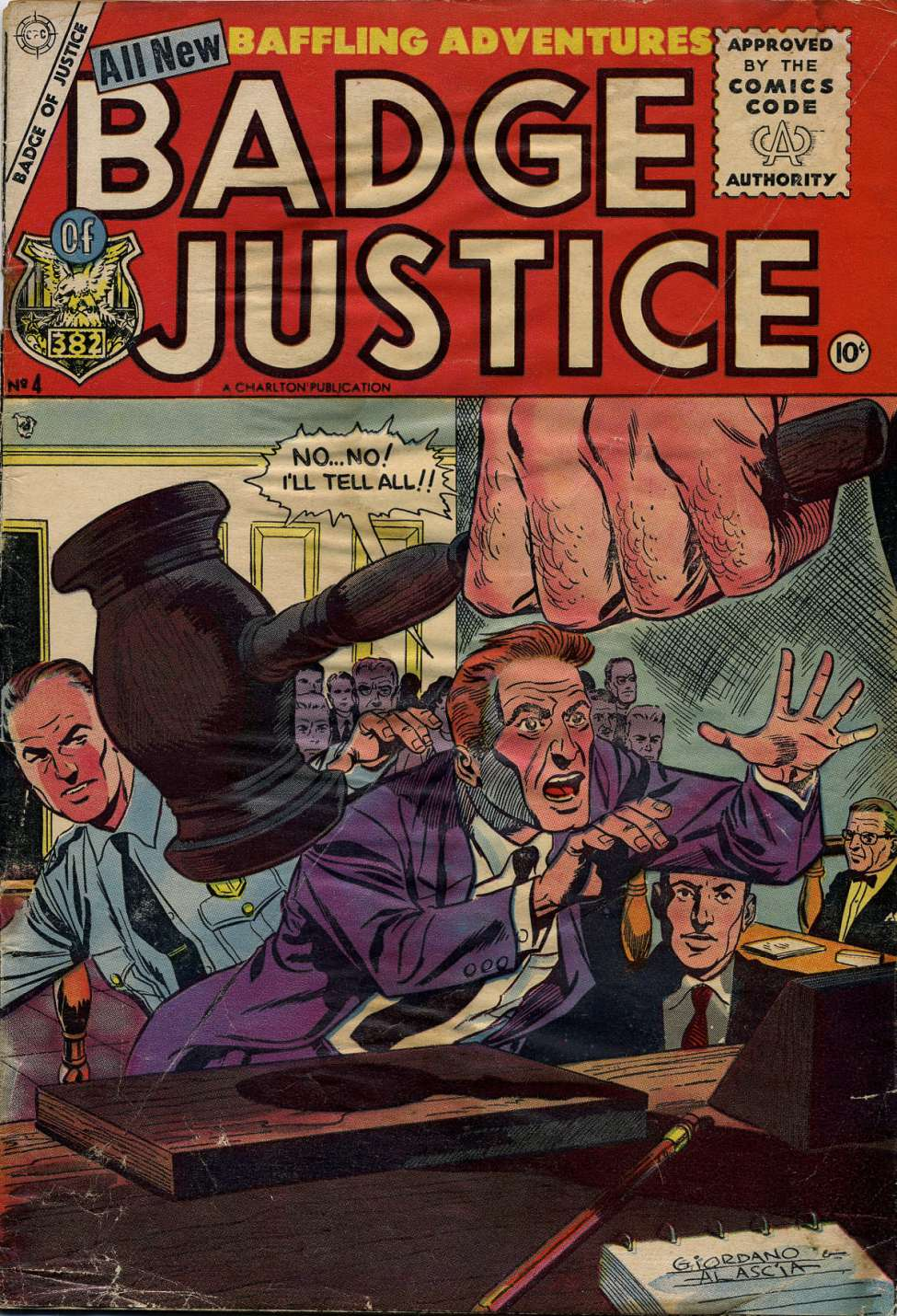 Comic Book Cover For Badge of Justice #4